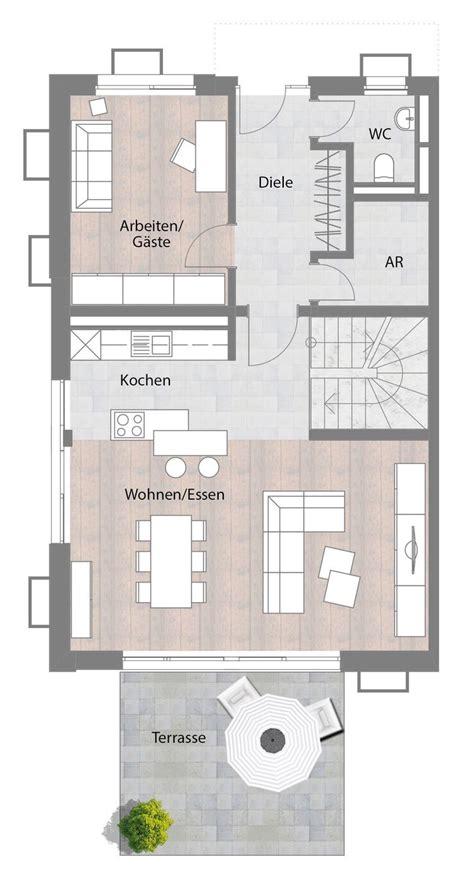 Grundriss Haus Schmales Grundstück by Pin Demmel Auf Home Haus Doppelhaush 228 Lfte Und