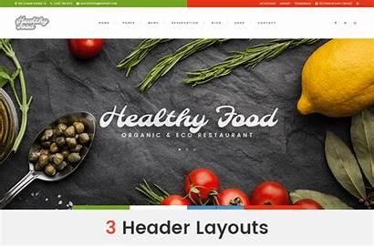Theme Healthy Restaurant Wordpress Organic Eco