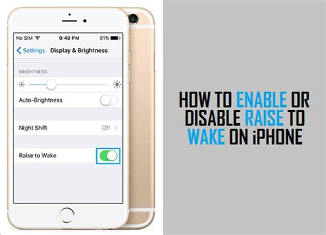 how to enable a disabled iphone how to enable or disable raise to on iphone