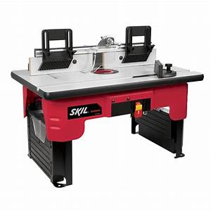 Skil Router Table with Folding Leg Design and Tall Fence