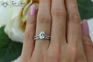 15 ctw oval art deco swirl ring solitaire bridal set With one ring for engagement and wedding