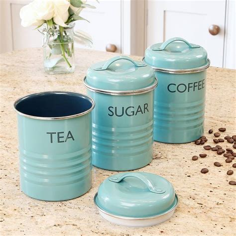 black canister sets for kitchen personalised tea box tea coffee sugar