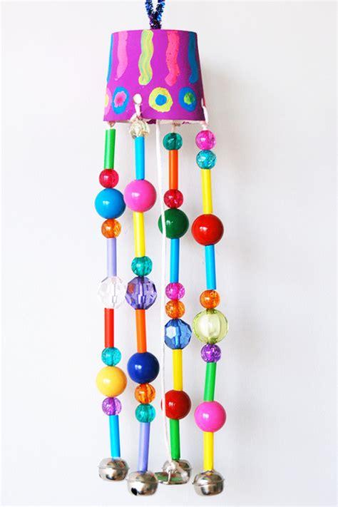 beaded wind chimes kids crafts fun craft ideas