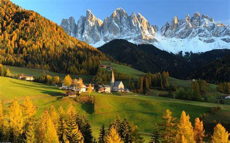 Switzerland Castle Autumn Tree Beauty Hill Widescreen ...