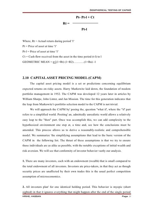 capm empirical tests research papers assignmentseditor