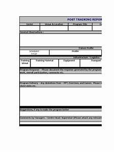 Post Training Report