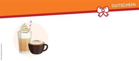kaffee gutschein vorlagen und vordrucke auf gutscheinede