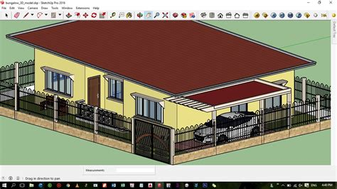 flat roof modern zen house design sketchup model cad
