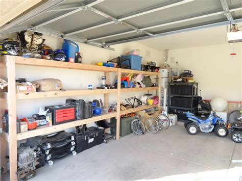 Garage Storage by White Almost Wall To Wall Garage Storage Diy Projects