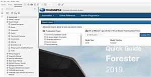2019 Subaru Forester Repair Manual