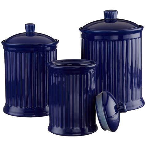 Kitchen Canisters by Amazing Blue Kitchen Canisters 8 Cobalt Blue Kitchen