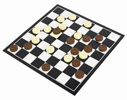 Chocolate Draughts Checkers Games Playing Firebox Board