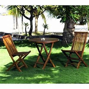 Salon De Jardin En Teck En Promotion : mobilier de jardin en teck salon 2 places table 2 chaises en teck ~ Teatrodelosmanantiales.com Idées de Décoration