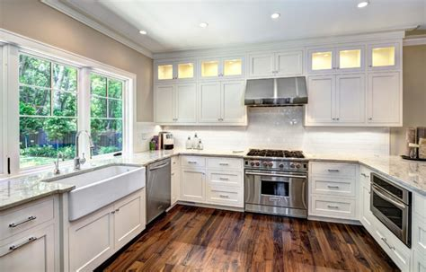pictures of kitchen islands with sinks inset shaker transitional kitchen charleston 9112
