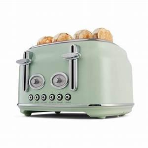 Toaster Retro Design : 4 slice stainless steel retro toaster mint kmart ~ Frokenaadalensverden.com Haus und Dekorationen