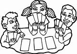 Coloring Pages Cards Deck Playing Children Printable Getcolorings sketch template