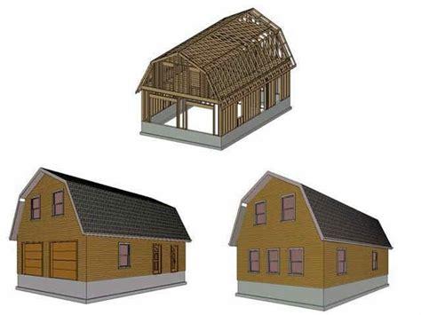 bobbs pole barn plans gambrel roof