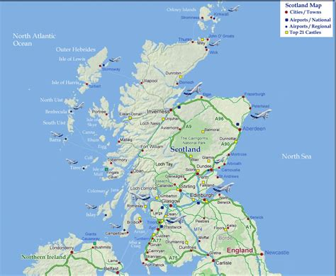 Map Of Scotland, Scotland Maps