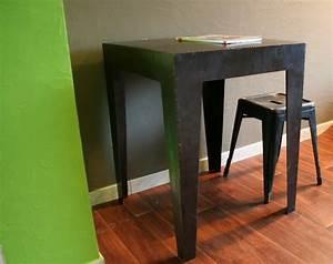 Table Haute Industrielle : table haute acier brut carr e table industrielle ~ Melissatoandfro.com Idées de Décoration