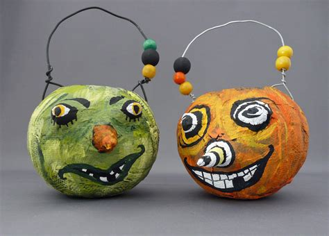 crazy papier mache pumpkins dollar store crafts
