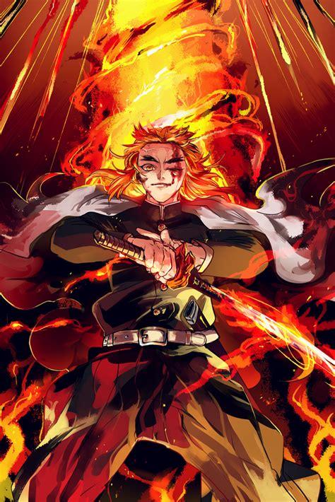 rengoku kyoujurou kimetsu  yaiba personagens de anime