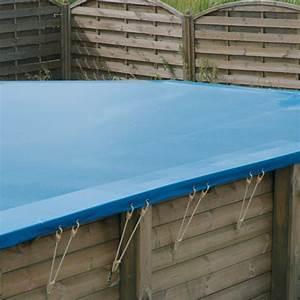 Bache d39hivernage pour piscine bois ubbink rectangulaire for Bache d hivernage pour piscine hors sol