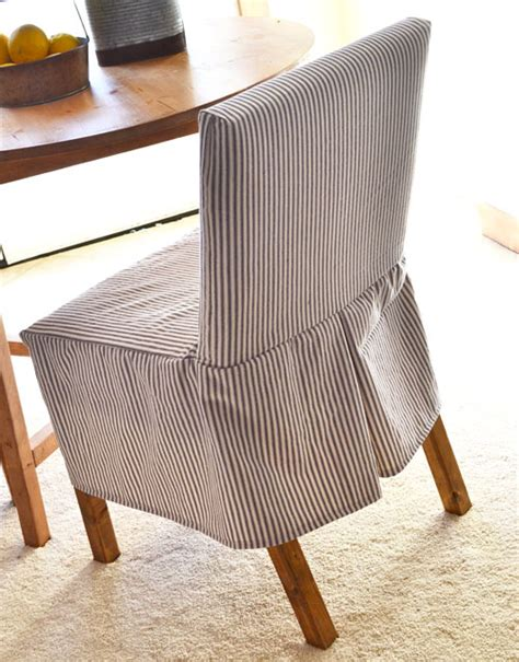 white easiest parson chair slipcovers diy projects