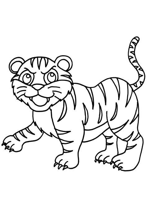 dibujos de tigres  colorear  kids page