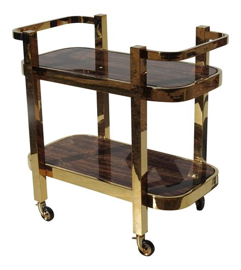 Rolling Bar by Modern Design Rolling Bar Cart With Marble Inserts Chairish