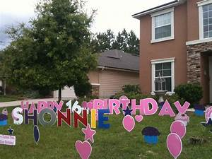 big yard card we love birthday girls jacksonville39s big With big yard letters