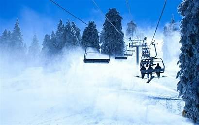 Snow Ski Skiing Lift Winter Mountains Snowboarding