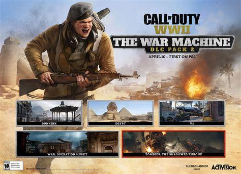 dlc wwii cod war machine call duty ps4 pack games