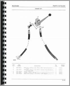 Oliver 1650 Backhoe Attachment Parts Manual