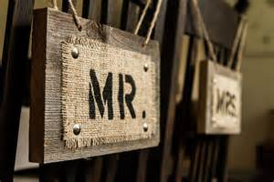 Mr. and Mrs. Wedding Signs Wood