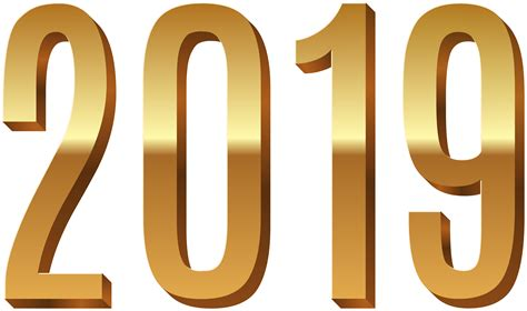 2019 Gold And Blue Png Clipart Image