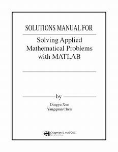 Download  Solutions Manual For Solving Applied
