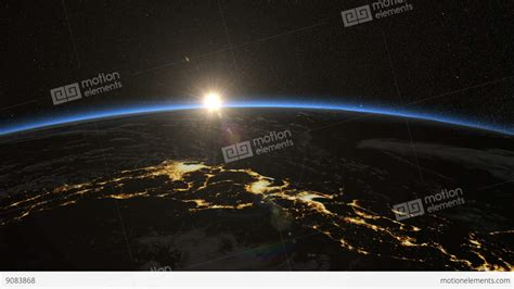 Japan From Space Sunrise Over Japanese Islands Earth