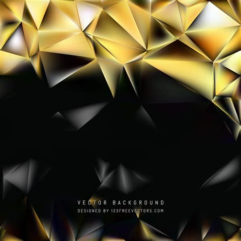 Abstract Black And Gold Background by Abstract Black Gold Polygon Pattern Background