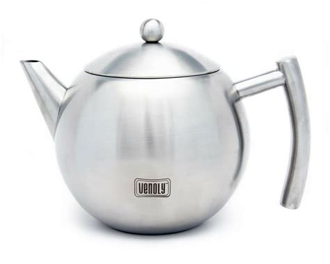 Stainless Steel Tea Pot With Removable Infuser For Loose