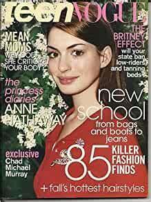 Teen Vogue Magazine August 2004 Anne Hathaway Cover: teen ...
