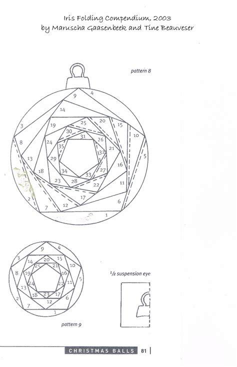iris folded christmas ornament merry monday challenge