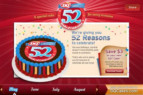 05236 Dairy Coupons Canada Printable by Dairy Canada Save 3 On Your Next Dq Cake When You