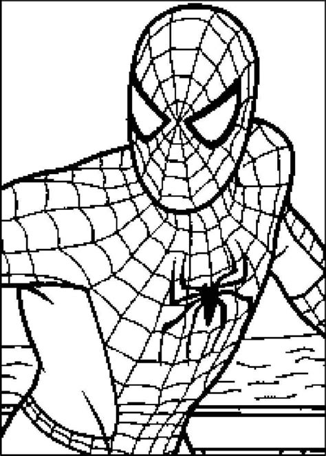 coloring pages spiderman colouring pages  kids kids