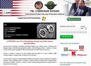 Fbi Cybercrime Division Virus  300 Scam Removal Guide