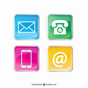 Contact colorful icons Vector | Free Download