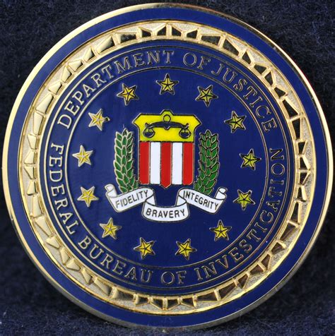 federal bureau of investigation federal bureau of investigation challengecoins ca