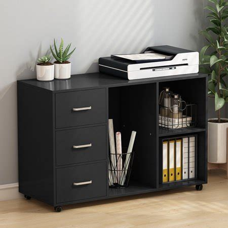 Tribesigns 3 Drawer Wood File Cabinets, Large Modern