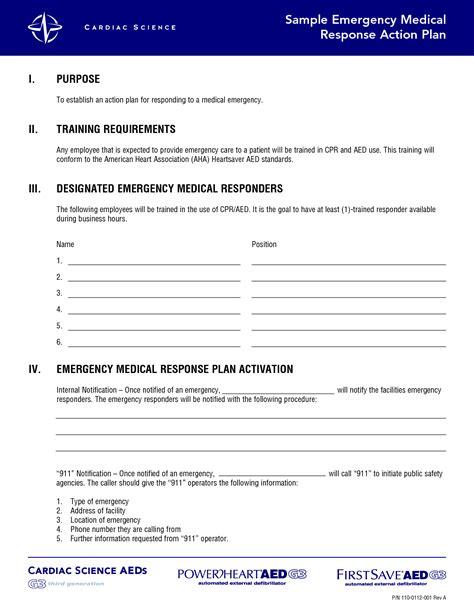 emergency action plan template  commercewordpress