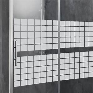 stickers muraux pour portes de douche en mosaique With stickers pour porte de douche