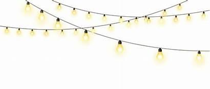 Lights String Lighting Hanging Bulb Bulbs Clipart